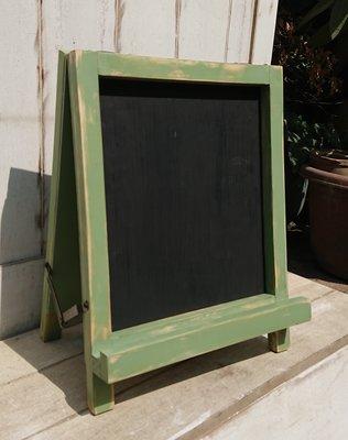 zakka糖果臘腸鄉村雜貨坊      木作類.. orange 桌型黑板/雙面黑板(書寫板留言板菜單寫字板畫板折合收納