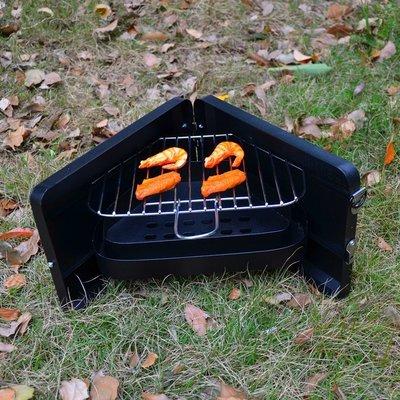 烤肉架小迷你不沾燒烤爐子家用木炭小號燒烤架三角折疊加厚 萬客居