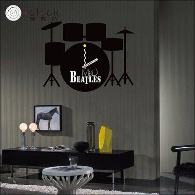 【鐘點站】樂團搖滾 DIY 創意壁貼掛鐘  牆壁貼鐘 大時鐘 靜音掃描 壁紙 25A026