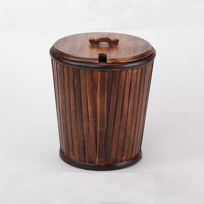 5Cgo【茗道】含稅會員有優惠 40264662372 竹茶桶竹子茶水桶茶渣桶茶盤排水桶茶桶復古茶桶仿古茶桶垃圾桶