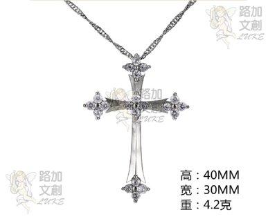 時尚新款鑽飾女十字架鎖骨鏈 銅鍍S925銀 亞馬遜Wish速賣通爆款    售價十一奉獻公益團體