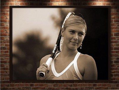 現代裝飾畫網球海報瑪利亞·莎拉波娃莎娃瑪莎球星海報框