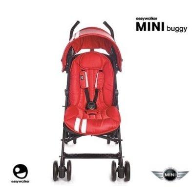 ╭◇娃娃屋◇╮╭◇easywalker◇╮荷蘭時尚嬰兒手推車 MINI Buggy紅色+雨罩╭◇