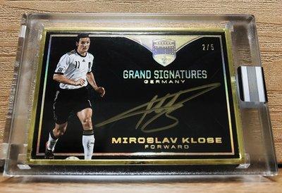 超高價版 2018 Panini Eminence Soccer Miroslav Klose 金屬框原封卡面親簽/5