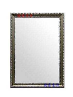 ◎『佳家畫廊』→華麗斜紋~銀色款【加框尺寸約60*120cm】穿衣鏡/掛鏡◎訂做鏡子