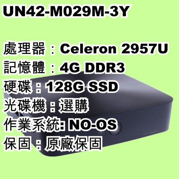 5Cgo【權宇】華碩商用Vivo UN42-M029M 小主機2957U/NO-OS/4G/128G SSD 會員扣5%