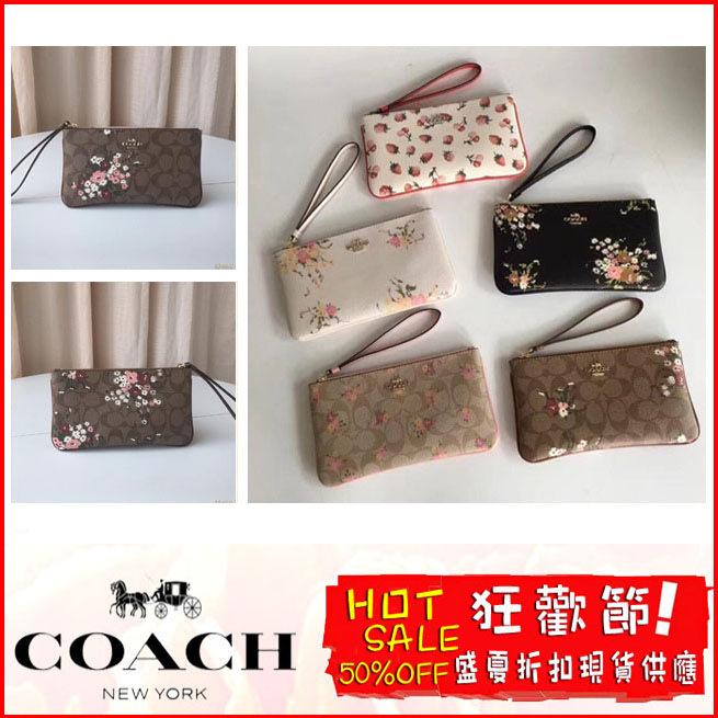 COACH 23675 30018 29369 長款女士手拿包 零錢包 拉鏈款錢夾 附購證