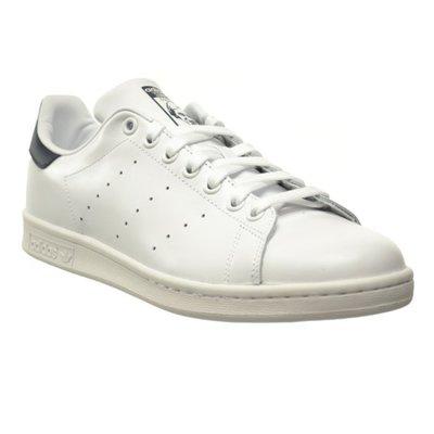 ADIDAS ORIGINALS STAN SMITH 白 深藍 皮革 低筒 復古 經典 男女鞋 M20325 YTS