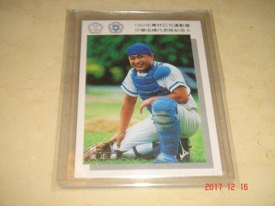 中華職棒 時報鷹隊 張正憲 1992年奧運代表隊紀念卡 球員卡