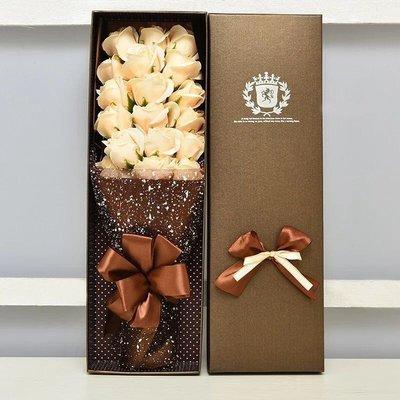 浪漫生日七夕情人節18朵玫瑰香皂花創意禮盒禮物