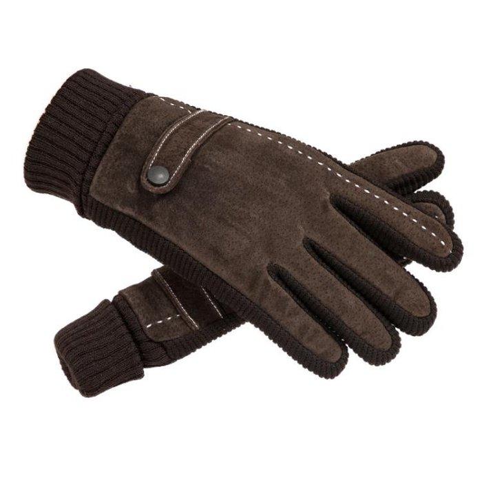 皮手套男士冬騎行防寒保暖加厚加絨豬皮手套觸屏戶外騎車摩托車