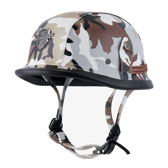 機車頭盔 復古頭盔 個性頭盔 迷彩頭盔  摩托車頭盔 時尚男女頭盔Helmet