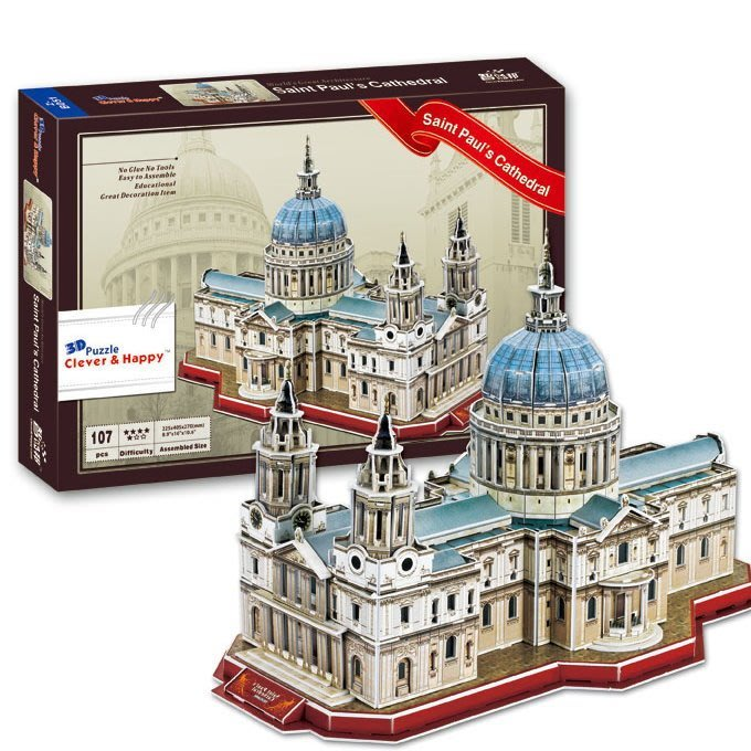 3D立體拼圖 @英國聖保羅大教堂