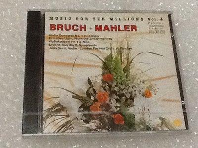 ~拉奇音樂~ MUSIC FOR THE MILLIONS Vol.4 BRUCH .MAHLER 全新未拆封
