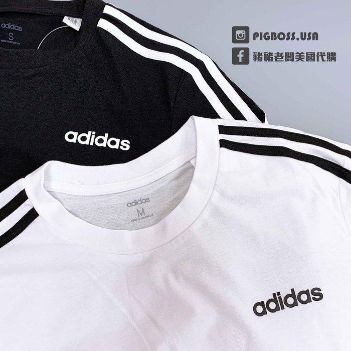 【豬豬老闆】ADIDAS 基本款 健身 慢跑 訓練 短袖 T恤 男款 黑 DQ3113 白 DU0441