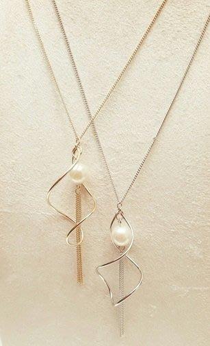 C-Ting簡約韓國 質感珍珠配飾項鍊/ 100%韓國空運