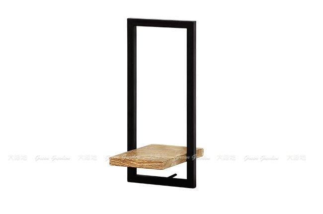 柚木鐵件 日字組合壁架F(W20)【大綠地家具】100%印尼柚木實木/工業風/置物架/DIY組裝