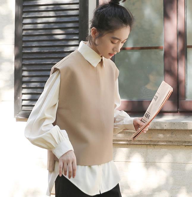 SeyeS  street雜誌英倫街頭個性高質感復古韓系俐落針織背心