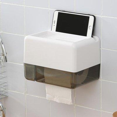 廁所紙巾盒免打孔紙盒防水創意衛生間裝置...