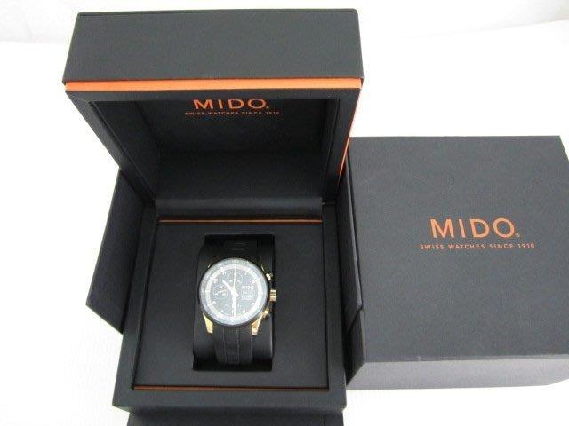 MIDO M0056143705709 Multifort 先鋒系列極速黑金計時腕錶*只要24500元*(FK133)