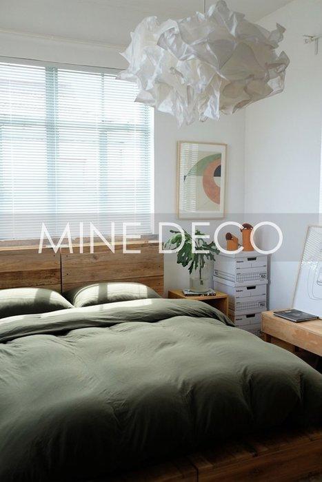 【MINE DECO】【加大雙人】日式天竺棉裸睡馬卡龍純色四件式床組/被套/床包/床笠/枕套/床單(現貨)M0498