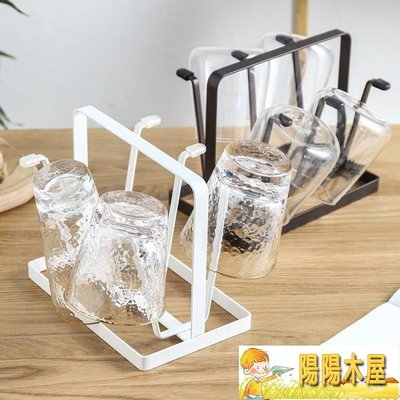 日式鐵藝杯子架 瀝水置物架創意家用晾杯...