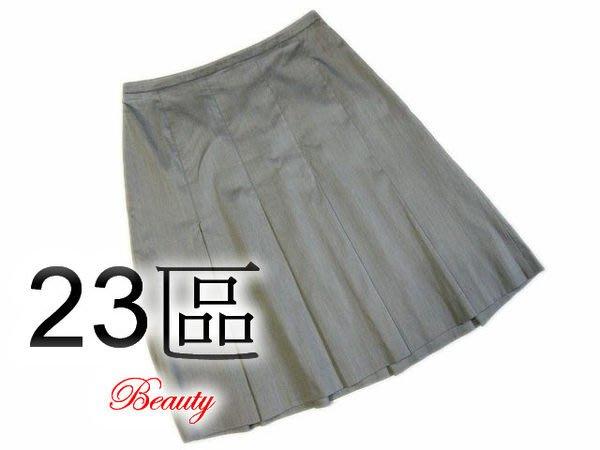 *Beauty* 日本品牌23區灰色寬褶裙 40號  IR