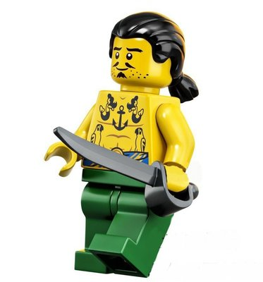 全新美國帶回 樂高積木LEGO 21322 人偶 Tattooga..如圖