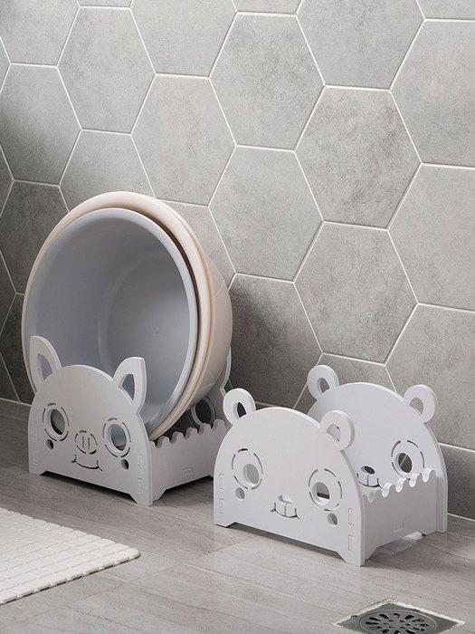 收納世家 浴室收納衛生間木塑板落地臉盆架臉盆置物架 浴室儲物架洗臉盆架子收納架