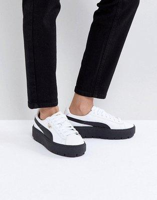 ~克莉絲丁時尚衣櫥~Puma Platform經典黑白厚底增高鞋