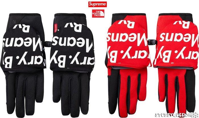 【超搶手】2015 聯名Supreme The North Face Winter Runners Glove 防水手套