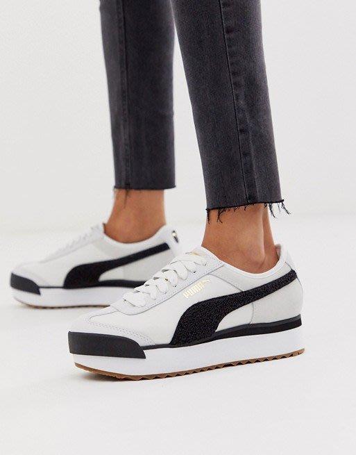 ~Black Dan Moccani~ [爆款] PUMA Roma 毛巾布拼接 波浪厚底 增高小白鞋/球鞋 女鞋