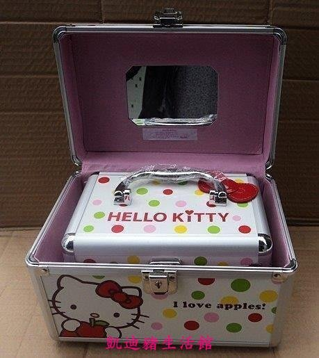 【凱迪豬生活館】新款hello kitty 化妝箱 KT旅行箱 手提化妝箱 首飾箱 子母箱KTZ-200883