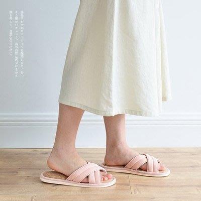 2018夏季新品交叉天然防臭情侶亞麻拖鞋 室內家居男女士涼拖PVC底