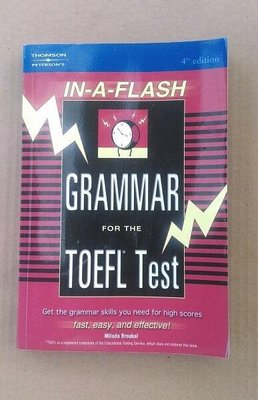 IN-A-FLASH GRAMMAR FOR THE TOEFL TEST/英文書/考試用書/托福測驗/英文檢定/二手書