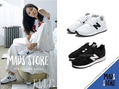 【MADS】韓國限定 NEW BALANCE 247 NB 全白 黑色 N字鞋 經典復古慢跑鞋 孔曉振 男女尺寸