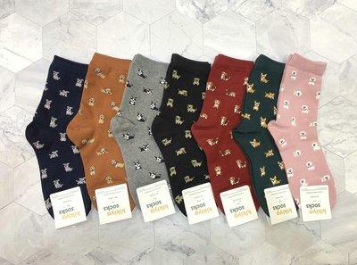 韓國直送 超可愛滿版小動物造型女襪子時尚 正韓 短襪 腳踝造型襪 運動襪 學生襪 棉襪 1/2襪