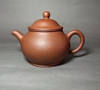 40-50年代宜興惠孟臣製 水平壺/7孔 110CC/薄胎 老紫泥