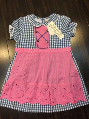 ☀APPLE SHOP☀ ESPRIT 嬰幼兒 女童粉紅格子洋裝