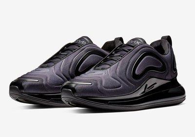 NIKE AIR MAX 720 慢跑鞋 黑 全氣墊 黑武士 運動休閒鞋