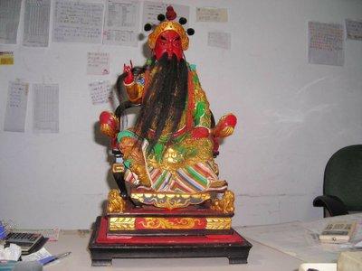 【順鴻】佛像 神像 1尺3 頂級 樟木 關公 關聖帝君 神佛像 雕刻彩繪關公財神像關二爺