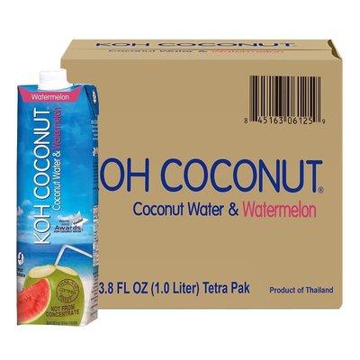 美兒小舖COSTCO好市多線上代購~KOH 酷椰嶼 西瓜椰子水(1公升x12入)