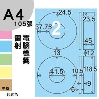 【兩盒免運】 龍德 電腦標籤紙 2格 光碟專用 LD-820-B-A 內徑41mm 淺藍色 105張  影印 雷射 噴墨
