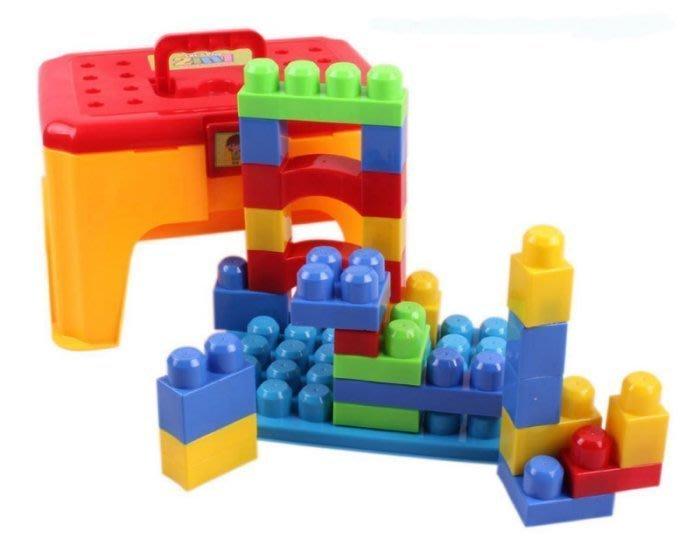 兒童益智百變拼裝積木收納椅-現貨
