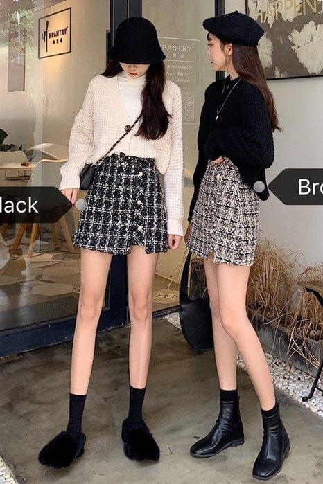 Modem Girl♥100%實拍 小香款 質感毛料呢毛褲裙 (特價) 兩色