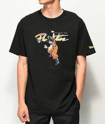 Cover Taiwan 官方直營 Primitive 七龍珠 孫悟空 嘻哈 滑板 短袖 短Tee 短T 黑色 (預購)
