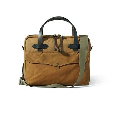 【美國Filson】Tablet Briefcase 卡其色公事包 手提包 手提袋 側背包 電腦包 書包 馬轡皮革提把