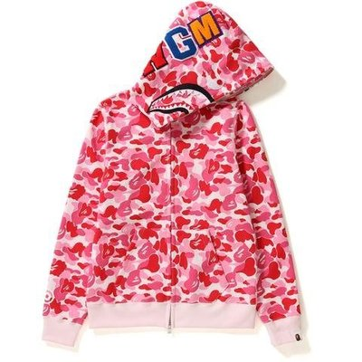 【日貨代購CITY】BAPE APE ABC CAMO SHARK FULL ZIP HOODIE 鯊魚 女版 現貨