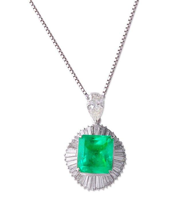 【JHT金宏總珠寶/GIA鑽石專賣】7.68ct天然祖母綠鑽墜/附證書(JB32-A24)