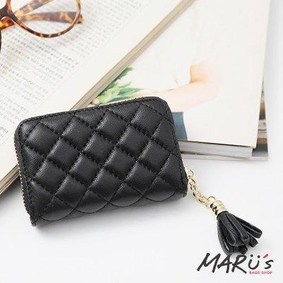 MARU`S BAGS SHOP 真皮卡片信用卡收納包 [LN-692] 韓真皮流蘇拉鍊零錢包收納包現貨
